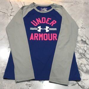 Under Armour girls baseball shirt